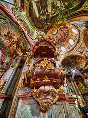 St. Nicholas Cathedral, Lesser Town, Prague (Petr Horak) Tags: praha czechia cze city capital prague europe statue penf painting olympus mft m43 hdr house christianity church ceiling catholic baroque bohemia