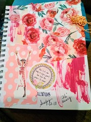 Our God, our help (bknill00) Tags: jesus christ god christian art journal praise pink orange church bible collage