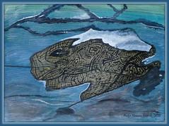 Ein Außerirdischer? - An alien? (antje whv) Tags: malerei kunst art abstrakt wasser watercolour acryl