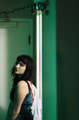 my favorite color (reilynsanderson) Tags: slow selfportrait self green greenhair banfs bangs alternative girl denim jacket vintage goblin