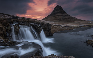 Sunset at Kirkjufell_