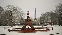 A Winters day at the Cenotaph, Victoria Park , Widnes, Cheshire, England. (Barry Miller _ Bazz) Tags: outdoorphotography cheshire england halton warmemorial fountain widnes victoria park cenotaph canon sigma 50mm art lens