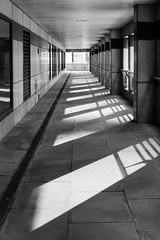 Highwalk (Spannarama) Tags: london uk blackandwhite sunlight sunshine shadows lightandshade pillars columns highwalk windows londonwall