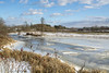 of snow and sumac (Barbara A. White) Tags: carpriver fitzroy winter landscape sumac snow blueskies clouds ice january westcarletoncounty ontario riverscape