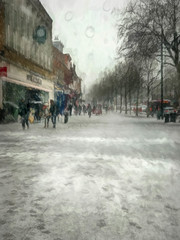 St Albans in the snow (RCARCARCA) Tags: stalbans iphone 7plus iphoneography snow rain shopping street