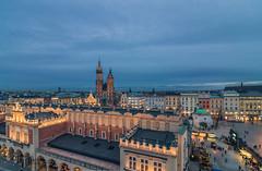 Blue hour (Vagelis Pikoulas) Tags: krakow poland europe travel colour colours colors color view landscape city cityscape tokina 1628mm canon 6d urban november autumn 2017