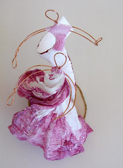Handmade Paper Figure by Alessandra Fabre Repetto (all things paper) Tags: papermache papersculpture greenweddings ecofriendly earthfriendly ecoweddingdesign caketopper balletfigures paperfigures weddingcaketopper crepepaper