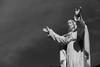 Jesus (Leon Sammartino) Tags: jesus statue little cobweb grave cemetary australia monchrome mono fujifilm xe3