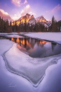Snow Mountain on Fire
