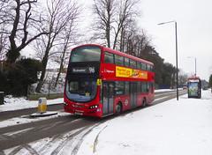 SLN 13022 - BG14ONT - WATLING STREET BEXLEYHEATH - THUR 1ST MAR 2018 (Bexleybus) Tags: bexleyheath kent stagecoach london tfl route 96 watling street wrightbus gemini hybrid volvo 13022 bg14ont
