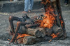 INDIA8670/ (Glenn Losack, M.D.) Tags: india puri cremation death dying fire photojournalism streetphotographer streetphotography glosack glennlosack orissa odissa pyre hinduism