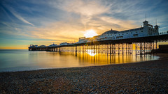 Brighton blues (SpectrumLight) Tags: pier water waterscape seascape sea shoreline shore brighton england sussex sony a7ii ilce7m2 fe2470mmf4zaoss beach sunset sunsetlight sky flickr architecture structure
