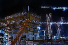 warriors waterfront arena construction (pbo31) Tags: bayarea california nikon d810 color boury pbo31 winter 2018 night dark black sanfrancisco city missionbay warriors arena construction crane basketball nba goldenstate sport 3rd