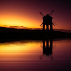 Windmill Reflections (spiderstreaky) Tags: hill reflections field windmill beacon delicate horizon sunrise landmark lightroom sunup natural british dawn historic tower bright high sunshine chesterton architecture top reflection abstract vivid beauty passion detail bigsky goldenhour silhouette traditional beautiful nature golden blur warwickshire cotswolds delightful shadow countryside