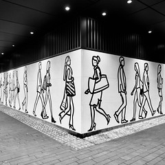 IMG_5507 (Kathi Huidobro) Tags: london julianopie cityworkers illustration urban facade lighting blackwhite monochrome bw publicart londonart architecture mural