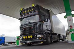 """Scania R Streamline """" POPŁAWSKI TRANSPORT """" (PL) (magicv8m) Tags: tir trans transport lkw popławski"""