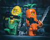 Plants Vs Zombies: The New Recruits Arrive (jezbags) Tags: plants vs zombies recruits lego legos toy toys macro xbox macrophotography macrodreams macrolego canon80d canon 80d 100mm closeup upclose game weapons flame thrower sword corn carrot guns machine gun grenade war battle