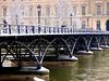P1390317 PARIS LE PONT DES ARTS OU LA PASSERELLE  DES ARTS ,  pendant la décrue  , mais sous la neige (closier.christophe) Tags: paris pontdesarts passerelledesarts decruedelaseine christopheclosierphotos