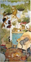 Cats at Large 2 (Leonisha) Tags: puzzle jigsawpuzzle lindajanesmith crazycats whs cats chat katzen comical