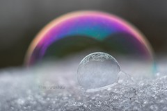 Cosmic rainbow (agnieszka.a.morawska) Tags: artofimages bkhq beautiful beyondbokeh bokehlicious snow winter bubble rainbow helios44m helios44 helios