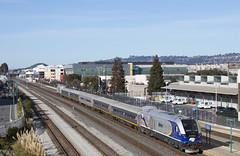 716 - Emeryville (imartin92) Tags: emeryville california amtrak passenger train sanjoaquin railroad emd f40ph npcu siemens sc44 charger locomotive