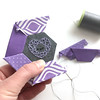 February Amethyst Pattern (wildolive) Tags: embroidery epp amethyst birthstone heart wildolive