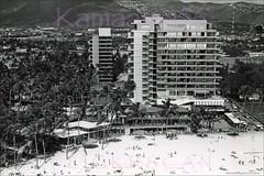 Hawaiian Village Birdseye 1950s (Kamaaina56) Tags: 1950s waikiki hawaii aerial hawaiianvillage realphoto