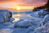 Lake Superior Sunrise (Michigan Nut) Tags: marquette sunrise winter blackrocks frozenlake ice midwest nature park snow upperpeninsula presqueislepark lakesuperior nikond850