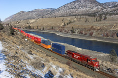 CP 8851 ~ Thompson River (Chris City) Tags: train railway railroad cpr container river cold