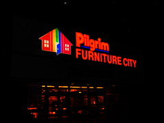 Pilgrim Furniture (Manchester, Connecticut) (jjbers) Tags: burr corner buckland hills area manchester connecticut february 10 2018 closing moving sale pilgrim furniture city night