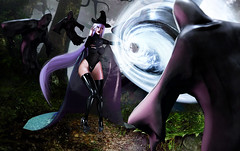 Umbra Witch . (Venus Germanotta) Tags: secondlife fashion fierce aii aiitheuglyandbeautiful witch witchcraft magic umbrawitch spell dementor harrypotter wizard wiccan hentaifair sexappeal fabulous longhair purple purplehair lavenderblonde aesthetic badbitch forest nature evil creature mythical fantasy fantasea fiction popculture brujería voodoo blackmagic whitemagic dark ominous ghosts powerful cast latex drape cape sickening glamour avantgarde highfashion hautecouture style stylish model pose lighting perspective blog blogger blogging blogpost garbaggio foxy woods light wand sorcery demons glamorous glam beautiful scene epic action violence danger sheer