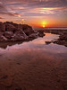 Sunrise (niloc's pic's) Tags: sunrise bulverhythe eastsussex beach rocks rockpool reflections sky sea clouds panasonic lumix dmcgh4r