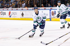"Kansas City Mavericks vs. Florida Everblades, February 18, 2018, Silverstein Eye Centers Arena, Independence, Missouri.  Photo: © John Howe / Howe Creative Photography, all rights reserved 2018 • <a style=""font-size:0.8em;"" href=""http://www.flickr.com/photos/134016632@N02/40387888791/"" target=""_blank"">View on Flickr</a>"