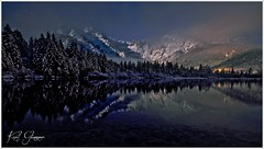 Almsee Mondlicht II (Karl Glinsner) Tags: landschaft landscape österreich austria berge gebirge mountains see lake winter schnee snow mondlicht moonlight almsee almtal salzkammergut grünau oberösterreich upperaustria outdoors
