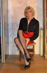 DSC_0038c (magda-liebe) Tags: crossdresser travesti french tgirl stockings fullyfashionedstockings highheels platform shoes skirt cervin