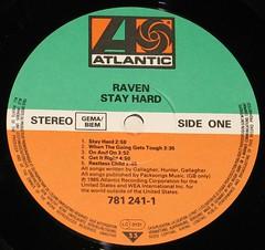 "RAVEN STAY HARD NWOBHM 12"" vinyl LP (vinylmeister) Tags: vinylrecords albumcoverphotos heavymetal thrashmetal deathmetal blackmetal vinyl schallplatte disque gramophone album nwobhm"