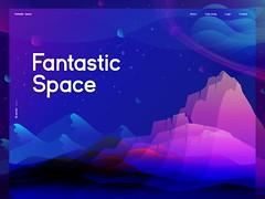 Fantastic Space Illustration by Zahidul (inspiration_de) Tags: color design illustration poster ui ux wallpaper