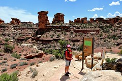 Trailhead excitement (mpalmer934) Tags: utah canyonlands national park hiking needle district outdoors landscape scenery