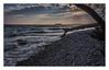 On the chalk coast of Rügen (bavare51) Tags: rügen strand wasser ostsee balticsea totholz steine wolken sky