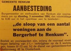 Renkum Bergerhof aankondiging aanbesteding 1964 Collectie HGR (Historisch Genootschap Redichem) Tags: renkum bergerhof aankondiging aanbesteding 1964 collectie hgr