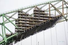 Scaffolding (Photos taken with Sony mirrorless cameras) Tags: bridge runcorn scaffold steel