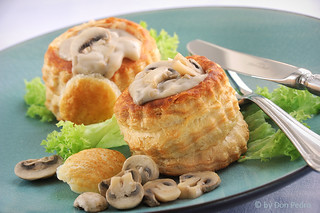 Pasteitje-champignonsragout