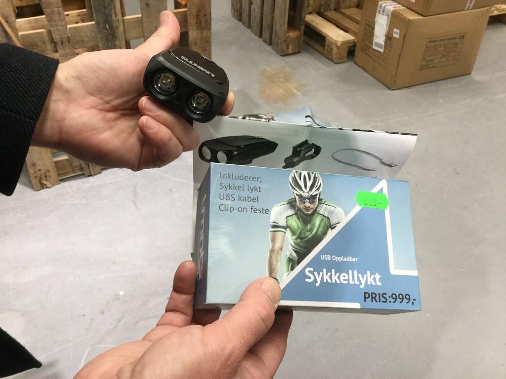 Oppladbar sykkellykt