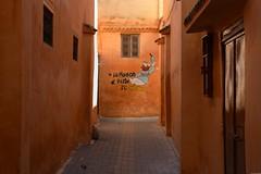 La maison berbère (Olivier Simard Photographie) Tags: maroc morocco africa maghreb northafrica meknès meknes villeimpériale femme imperialcity mknas moulayismail berbère berber candidshot medina médina elhédim afrique photographiederue streetphotography streetscene islam tradition photoderue elhedim streetphoto clairobscur allée chiaroscuro alley tag donald peinturemurale wallpaint ocre