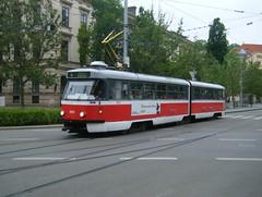 Brno tram No. 1051 (johnzebedee) Tags: tram transport tatra tatrak2 brno czechrepublic vehicle johnzebedee publictransport