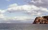 The Island (35mm film) (Zuiko Om) Tags: spelonca roccia water spiaggia orizzonte nature mare rock island italy sea scopello sicily
