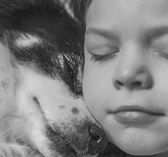 V&I (Jagoda 1410) Tags: blackwhite togetherness takenwithlove dogchild doglover friendship monochrome monochromatic childrensphotography childphotography childdog childhood naptime