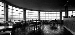 Empty Cafe (JCP photograph) Tags: light dark black white bw blackandwhite monochrome jcp photograph mono 2018 sony ilce a6000 ilce6000 jcpphotograph counter coffee cafe table chair empty seats restaurant menu