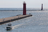 Muskegon Pier (peterkelly) Tags: digital canon 6d muskegon michigan lakeexpress ferry boat ship water lakemichigan lighthouse pier greatlakes wake usa us unitedstatesofamerica unitedstates northamerica
