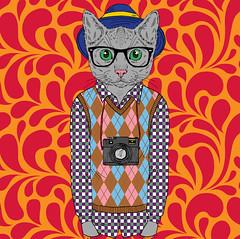 Recolor Nerdy Photo Cat Cambridge Feb 2018 (symonmreynolds) Tags: recolor ipad app nerdy photo cat cambridge february 2018